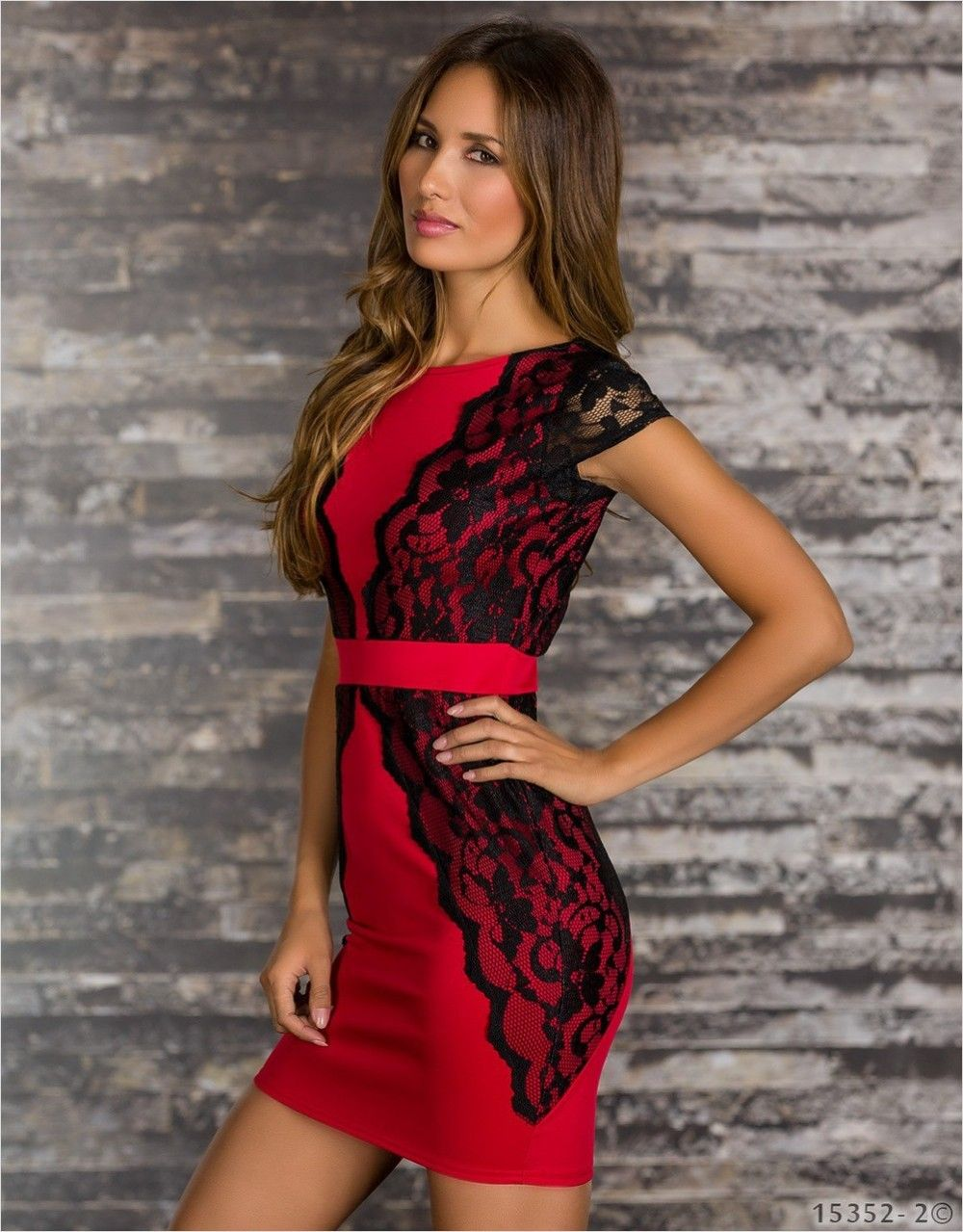 Cool Hot Style Sexy Women Lady Solid Lace Tight O-Neck Dress Slim ...