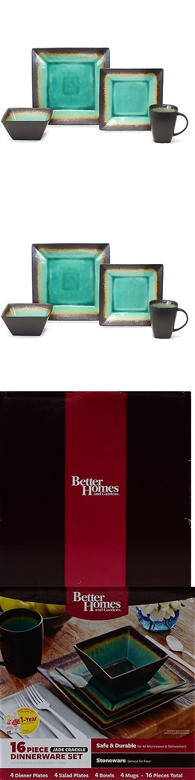 Dinner Service Sets 36032: Better Homes And Gardens Jade Crackle 16 ...
