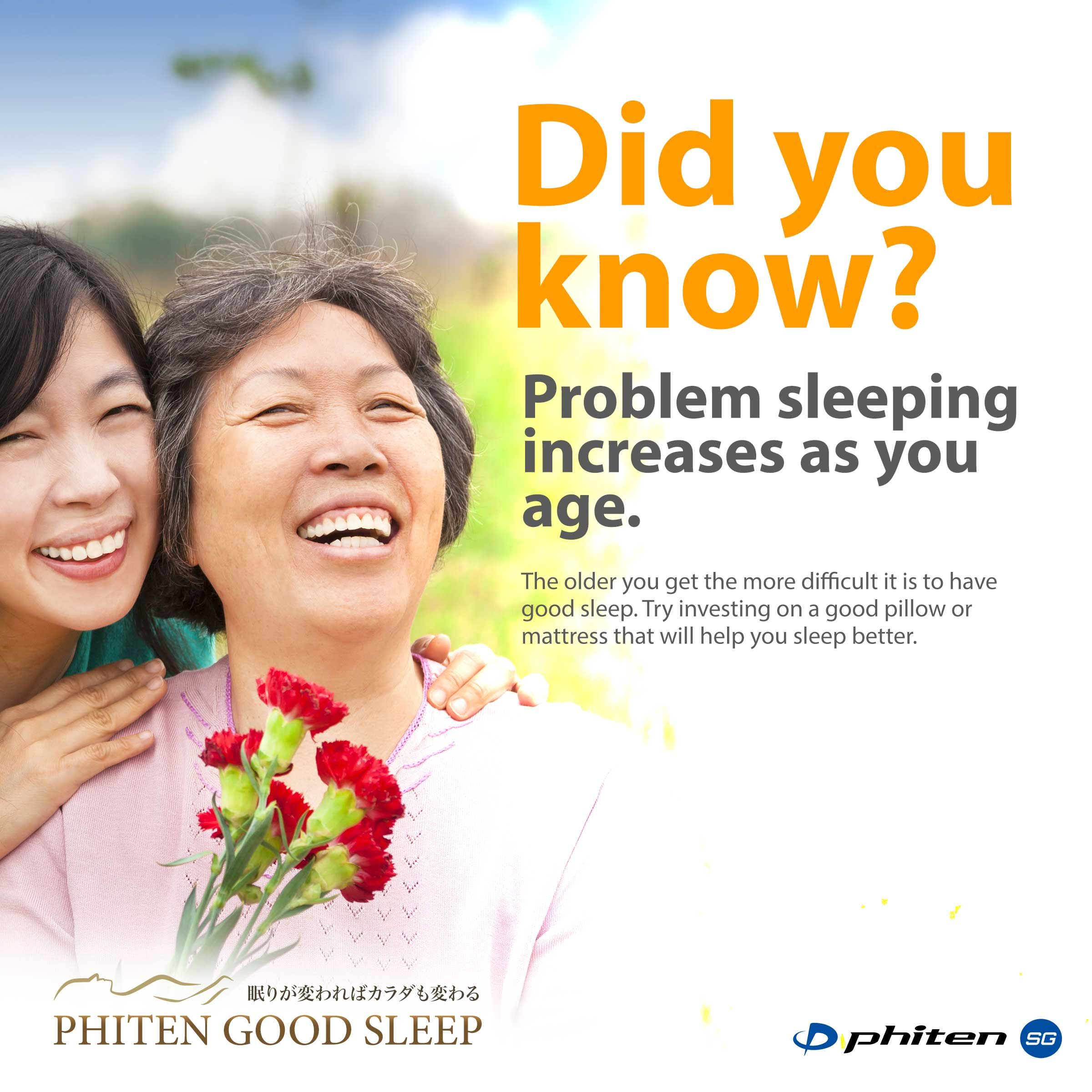 age affects sleep. indulge in what you can to make sure you get at