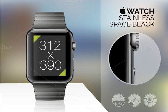 Apple Watch Mockup Set Full Vector Vector Illustrations Of Great Quality With Easy Editable Features User S Guide On The First Preview Just Click On It And