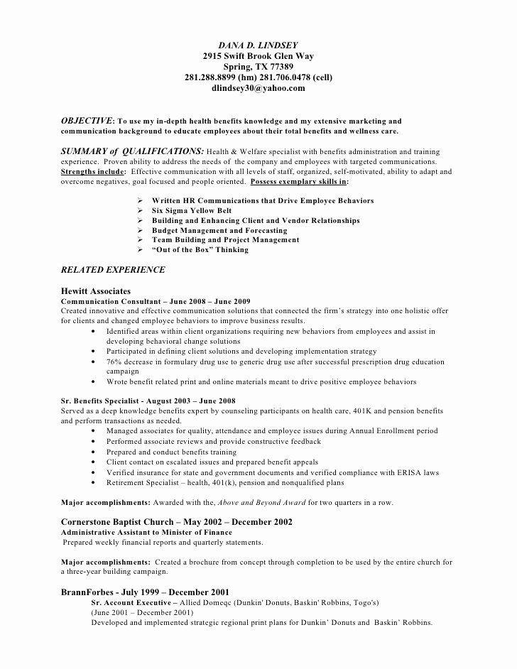 Account executive resume objective fresh college