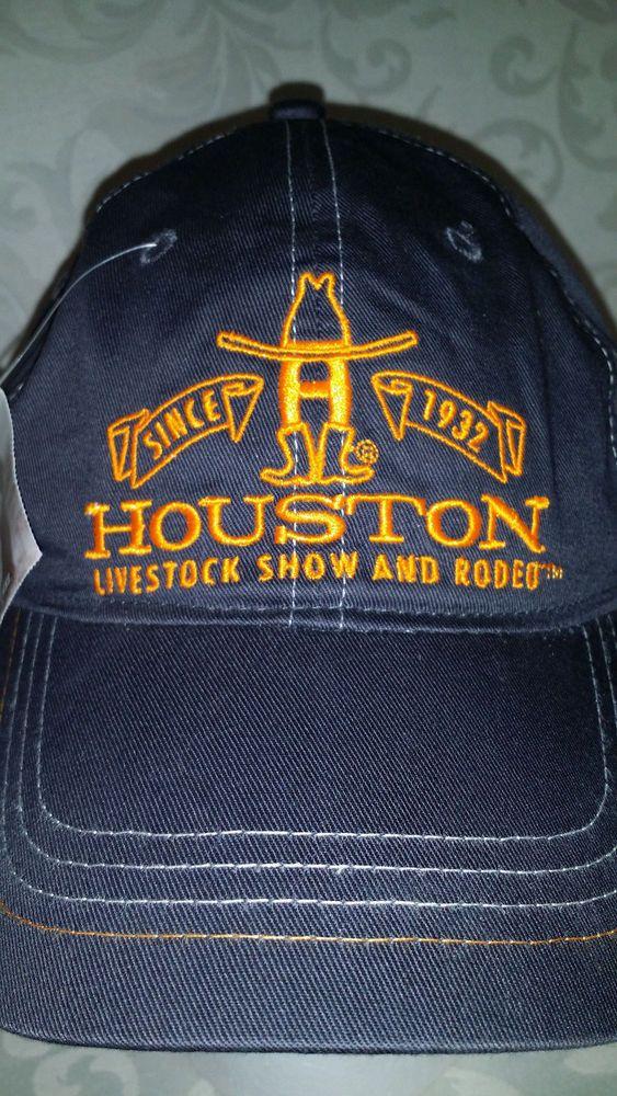 5bd26d19959 Houston Livestock Show And Rodeo Embroidered Adjustable Hat Baseball Cap  NWT  JHoustonLivestock  BaseballCap