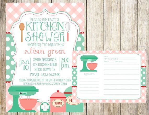 Kitchen bridal shower invitation and recipe card by emmyjosparties kitchen bridal shower invitation and recipe card by emmyjosparties 1400 stopboris Image collections
