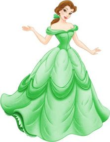 Beauty Beast Belle Green