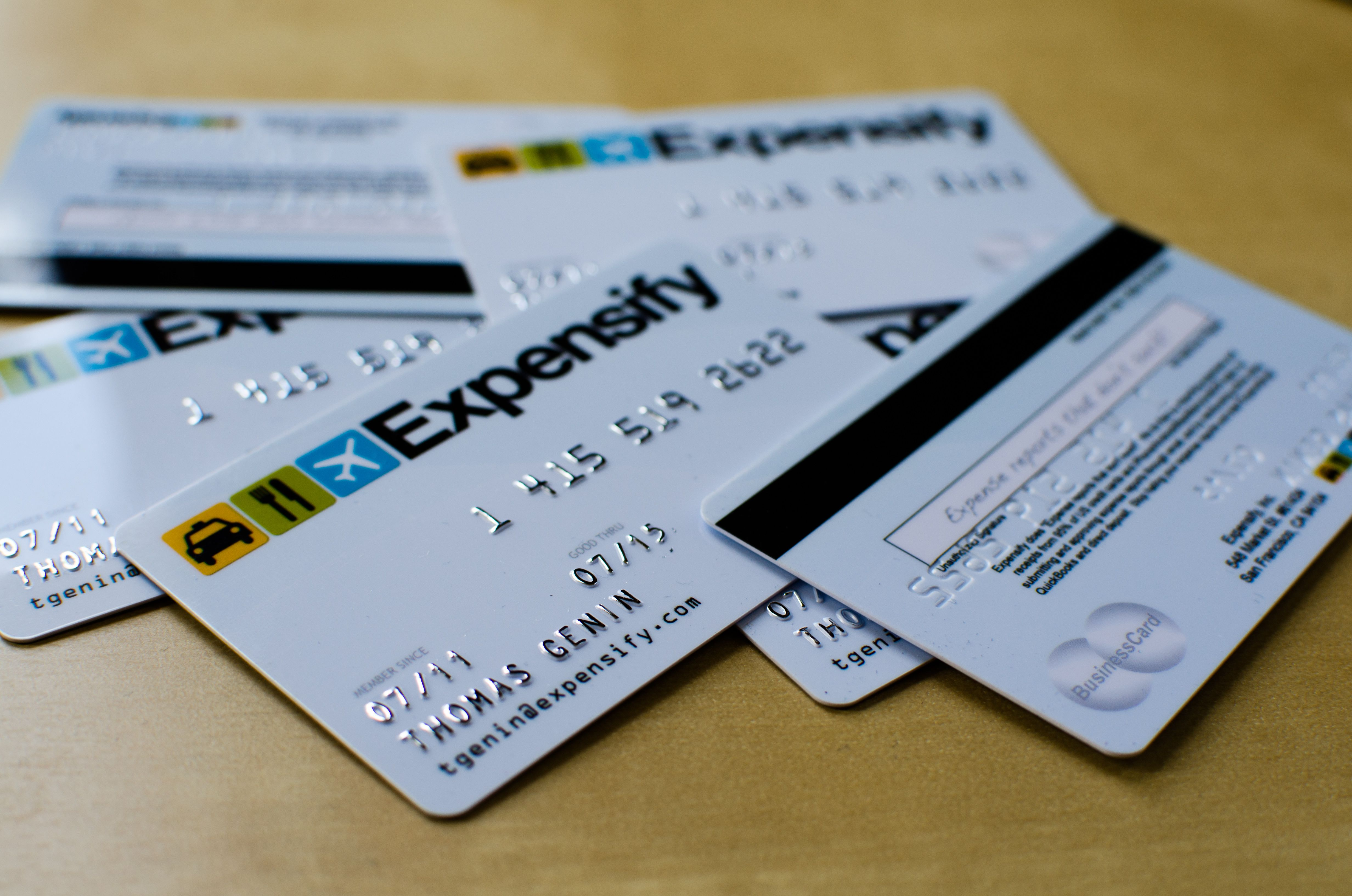 Credit Card Themed Business Cards From Expensify