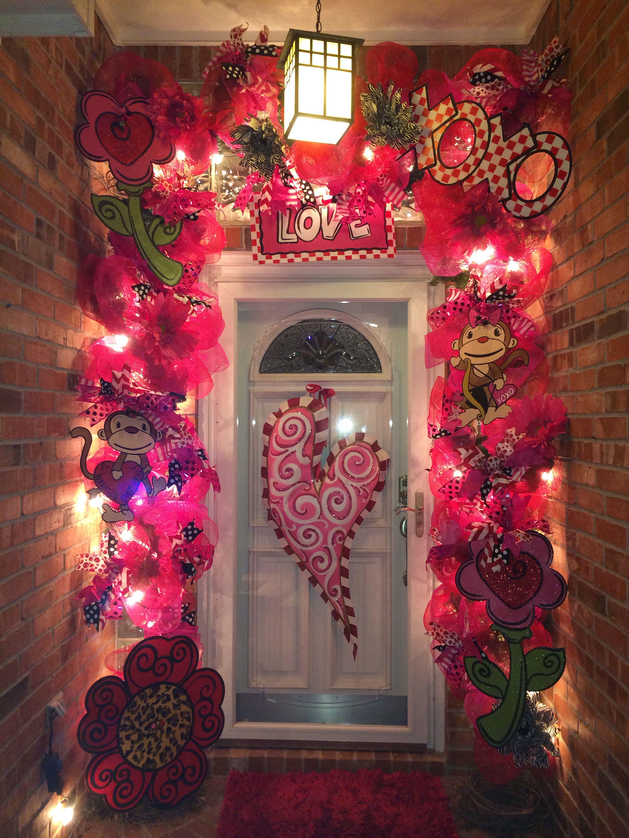 Valentine Door Decoration Ideas Happy Valentines Day Pinterest