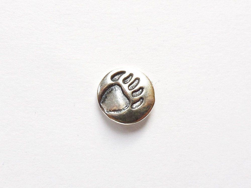 Sterling Bear Paw Print Tie Tack, Animal Pawprint Lapel Pin, Under 15,  Wildlife Jewelry, Hiker Jewelry, Camper Tie Tack, Ball Cap Pin