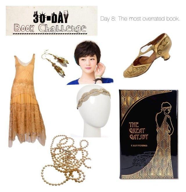 """Book Challenge- Day 8 - ""The Great Gatsby"" F. Scott Fitzgerald"" by thorn-sidhe on Polyvore featuring Graphic Image, Sankins and Oori Trading"