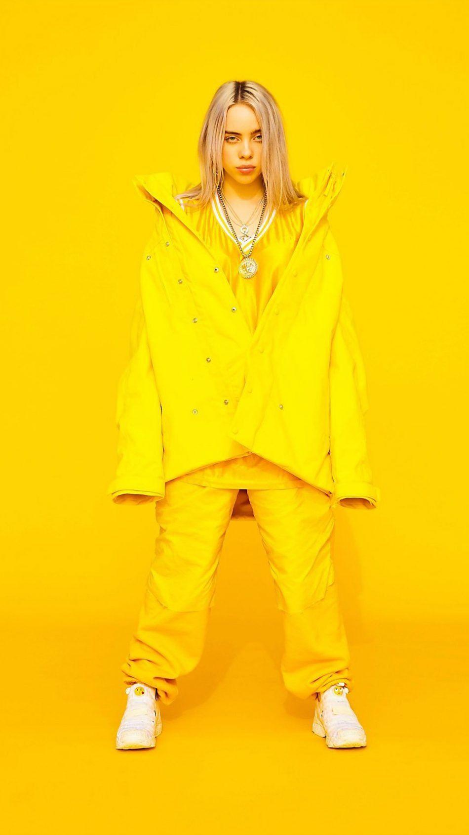 Billie Di 2020 Selebriti Gaya Model Pakaian Kuning
