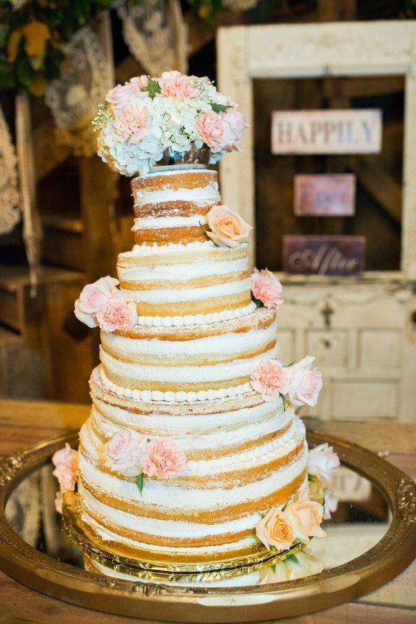 Southern Style Barn Wedding Rustic Wedding Cakes Pinterest