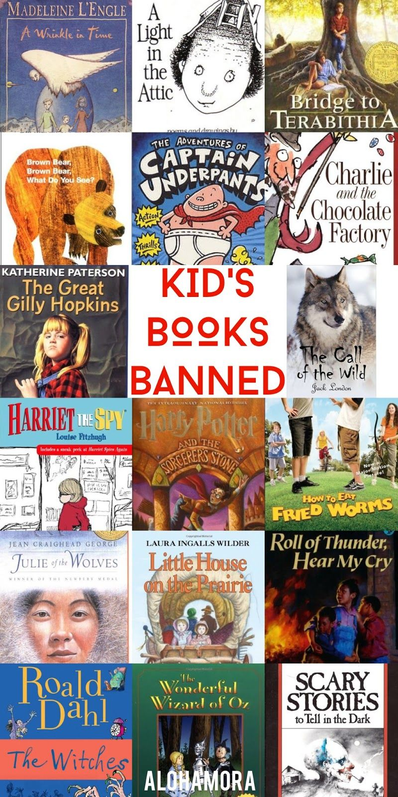 Alohamora: Open a Book: Even Children's Books are Banned- Banned Book Week... Children's