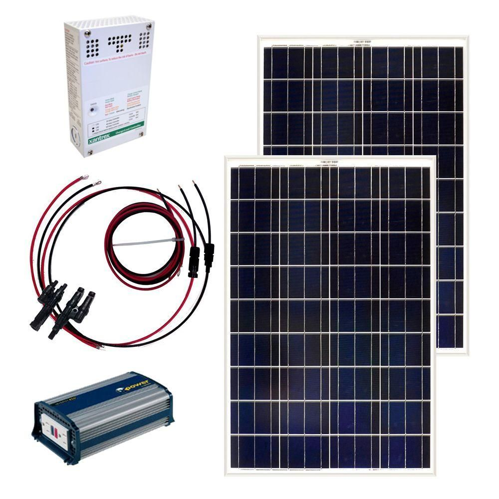 Grape Solar 200 Watt Off Grid Solar Panel Kit Gs 200 Kit The Home Depot Solar Panel Kits Off Grid Solar Solar Energy Panels