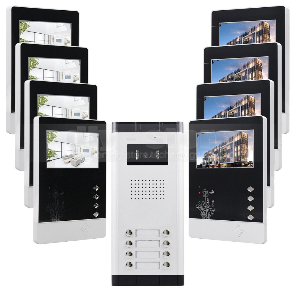 Diysecur 43 4 Wired Apartment Video Door Phone Audio Visual