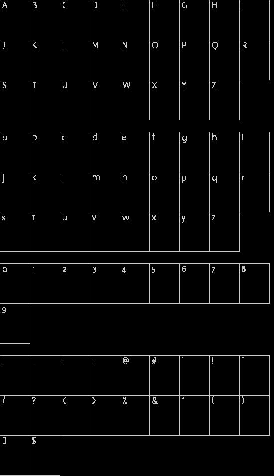 Elle Futura Bold font character map | Font2s Com | Italic