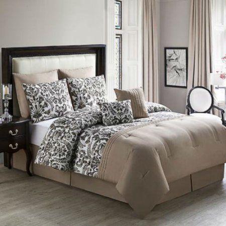 Zamora 8 pc comforter set King - Natural, Beige