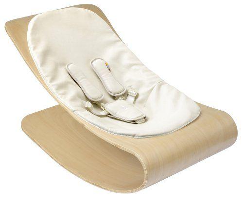 #puericultura Bloom E10601-NCW – Hamaca bebé, marco de madera natural, asiento Coconut White