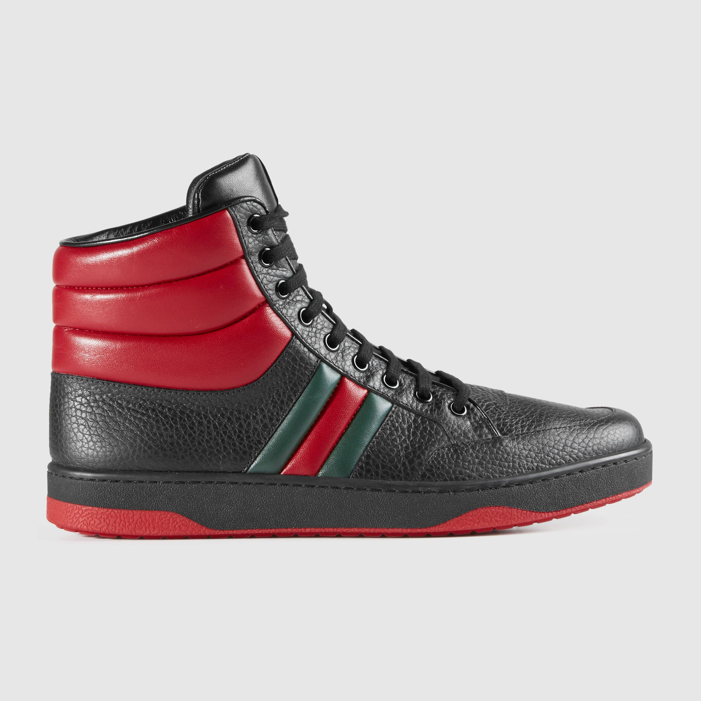 Gucci Men - Leather high-top sneaker - 368494DEF301074