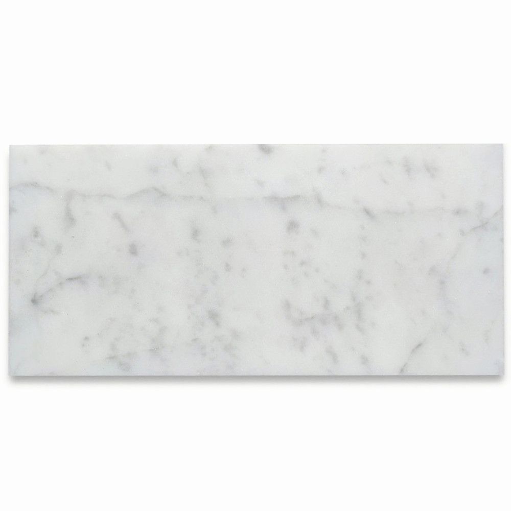 Carrara White Marble 4x8 Wall and Floor Tile Honed