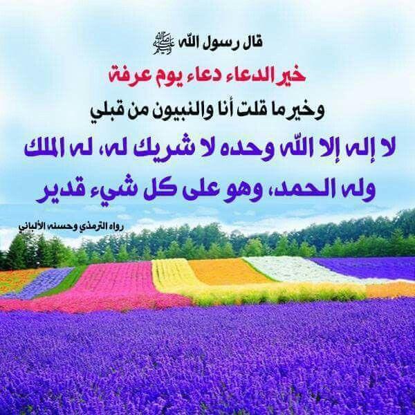 خير الدعاء دعاء يوم عرفة Sayings Prophet Mohammed