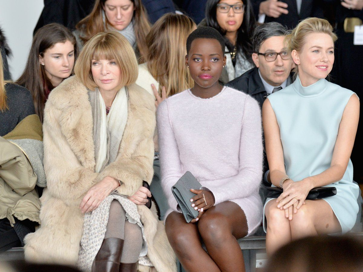 She's shared the front row with countless celebrities, like Lupita Nyong'o and Naomi Watts.