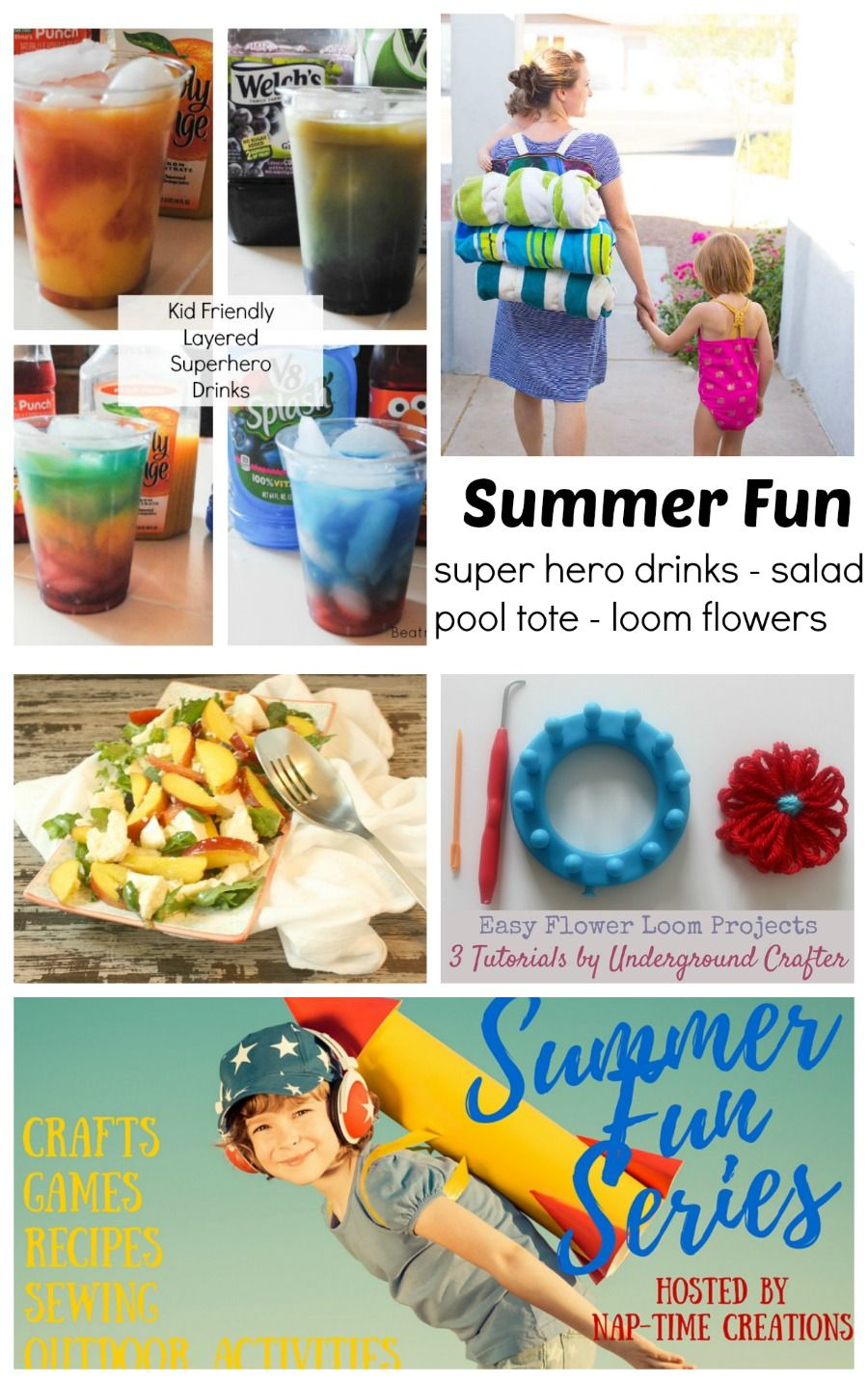 Happy Friday! I've got another fun installment of summer fun for you today! Stacey is sharing fabulous layered superhero drinks and here are the other great posts to check out: Peach Caprese Salad – Mama Lews Blog Pool Bag Tutorial – Whiskem Loom Flowers – Underground Crafter Super Hero Drinks – Beatnik Kids on Nap-Time … #OMHGWW