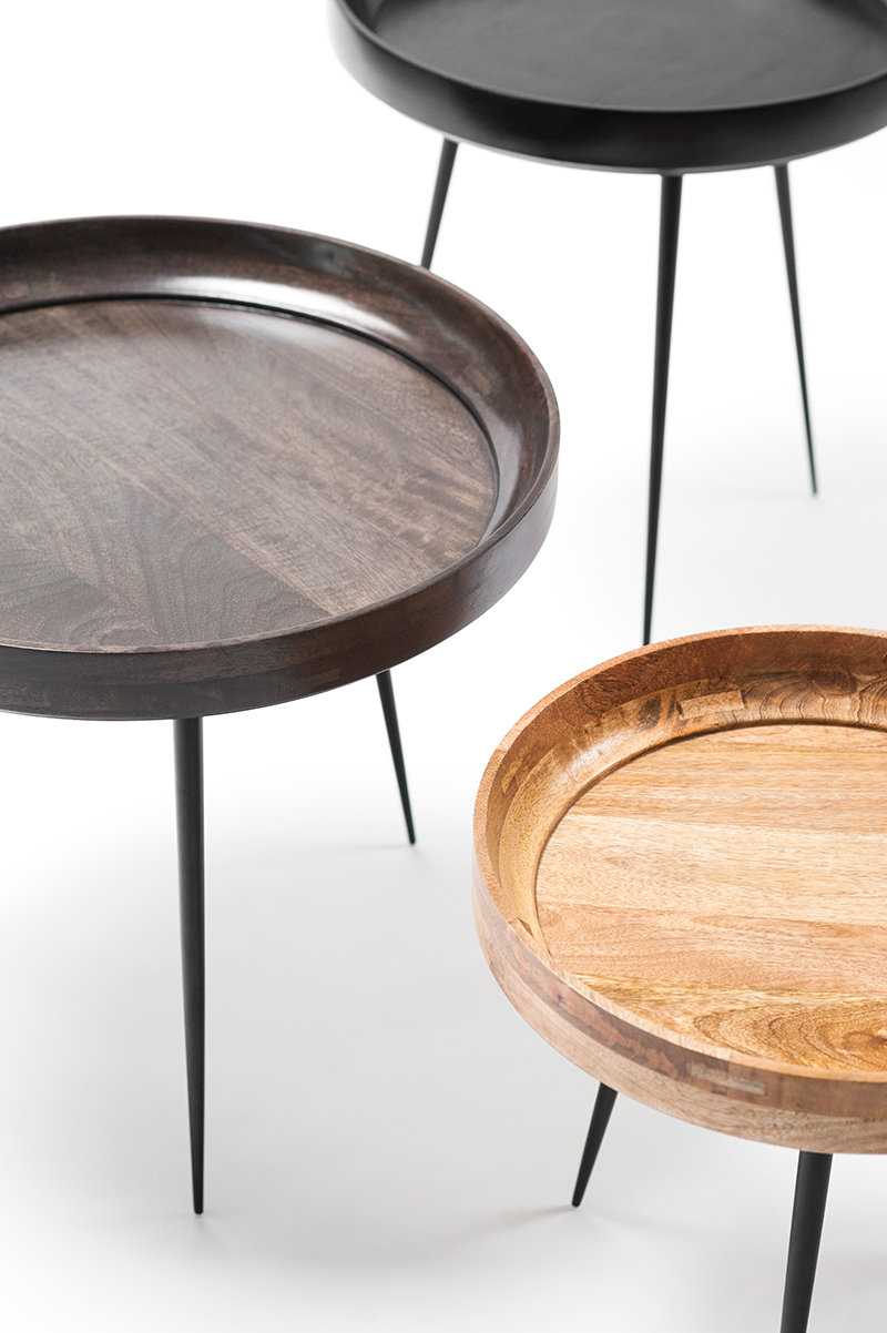Available In 3 Gorgeous Finishes And 3 Sizes, The Mater Bowl Table Works  Beautifully As