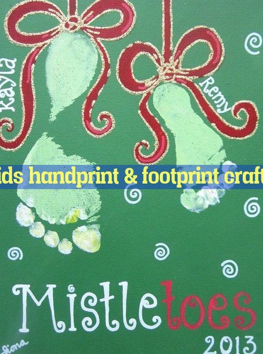 Easy Fun 45ddd3c069b21a #mistletoesfootprintcraft
