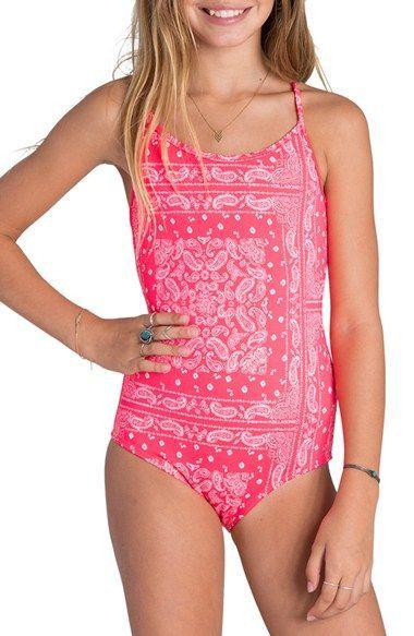 ec0a2d48c5d4c Billabong 'Bandana Rama' One-Piece Swimsuit (Little Girls & Big Girls)