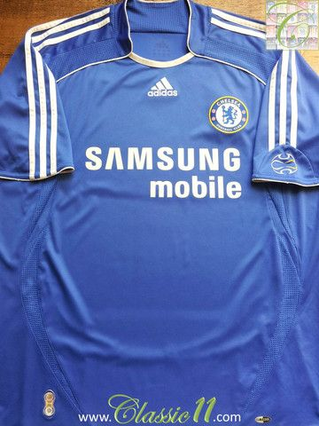 Relive Chelsea s 2006 2007 season with this vintage Adidas home football  shirt. 89b6bf438
