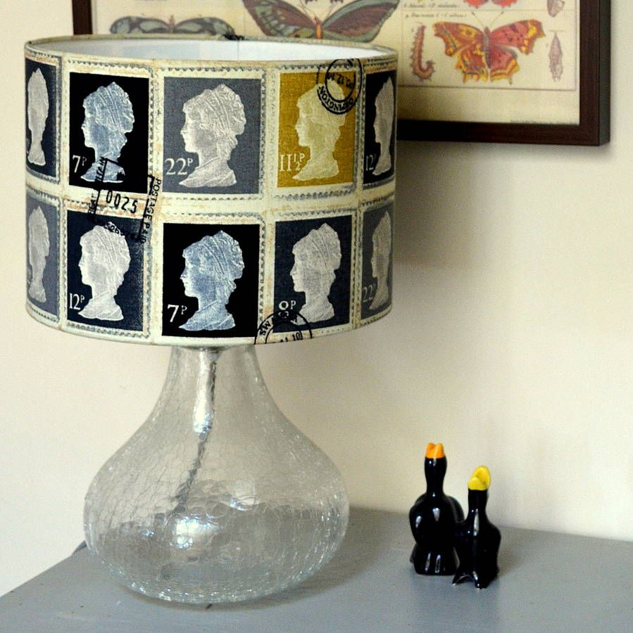 Postage Stamp Lampshade Greys Unusual Table Lamps Lamp