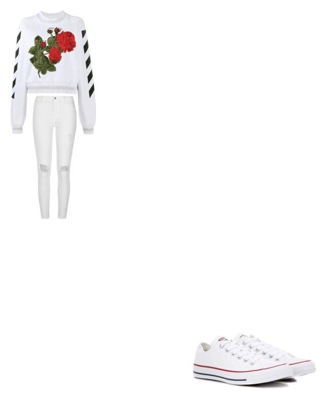 """mass"" by bvby-bre ❤ liked on Polyvore featuring Off-White, River Island and Converse"