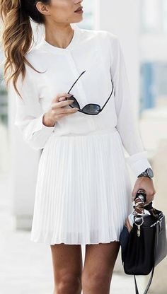 White on white. So great for keeping cool in the summer while still looking chic for work.