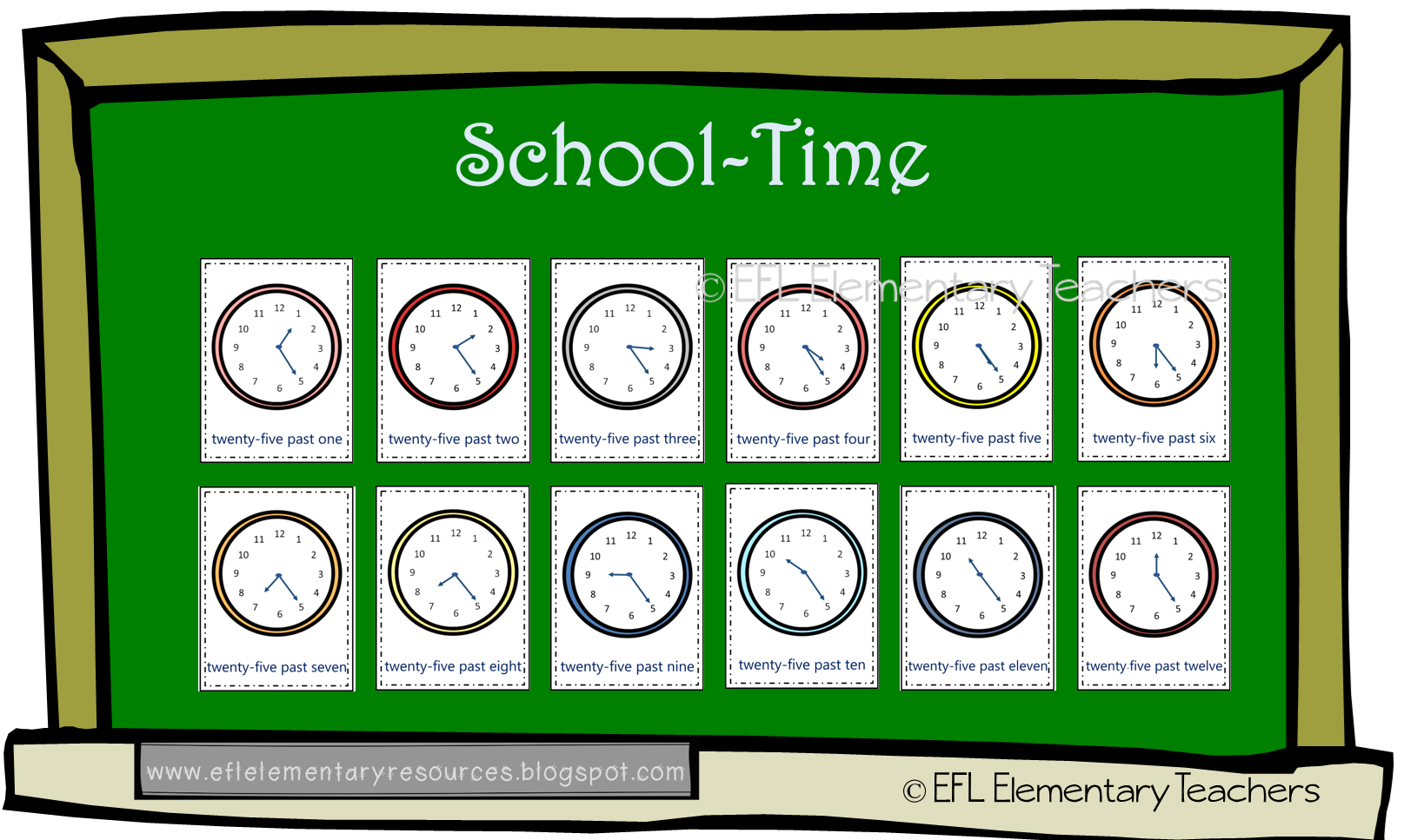 Telling The Time For Esl Learners In