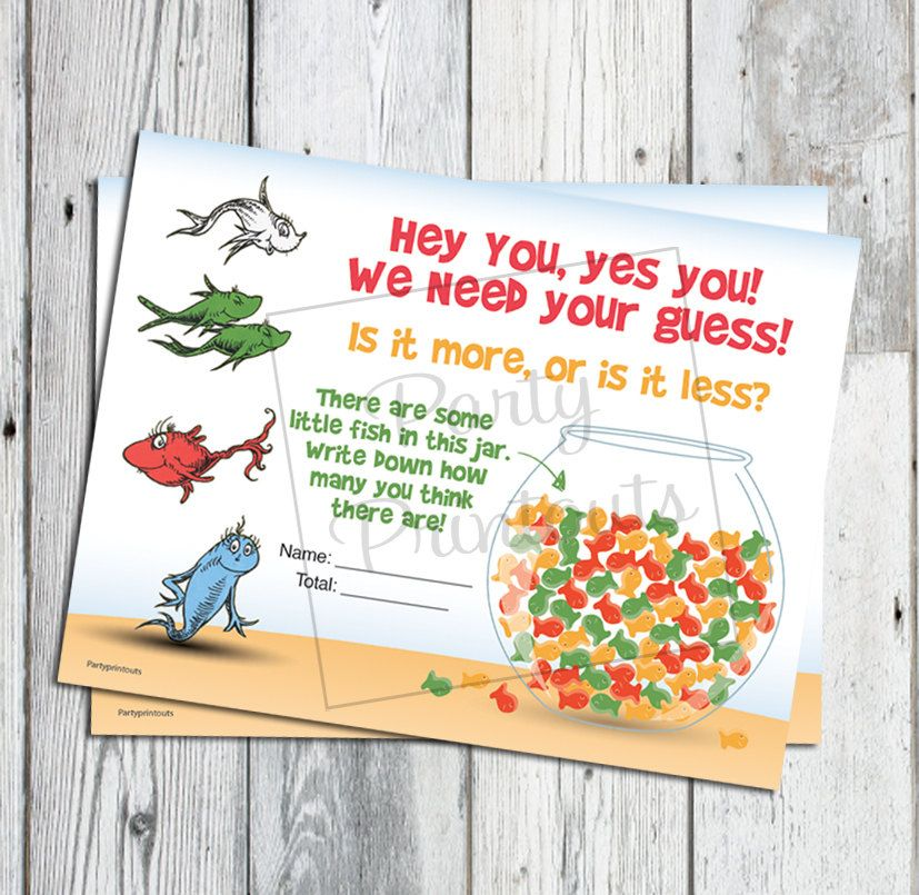 dr seuss baby shower game fish bowl guess game printable game more