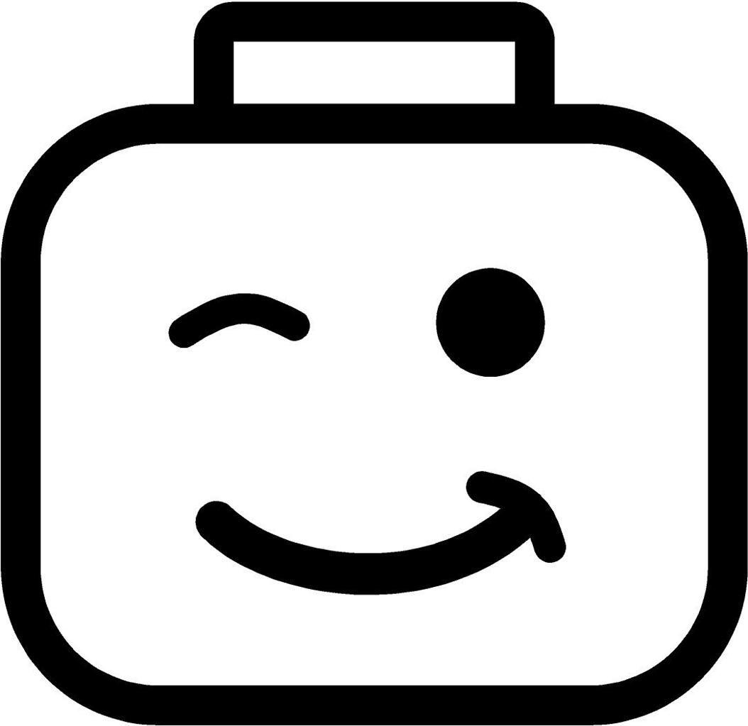 Lego Face Vinyl Decal Sticker Car Wink Blocks Toy Tuck Van Ninja ...    ClipArt Best   ClipArt Best