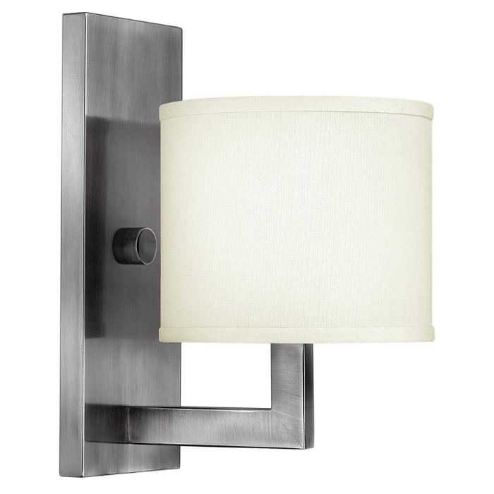 Kinkiet Lampa Scienna Hampton Hk Hampton1 Elstead Hinkley Metalowa Oprawa Nikiel Bialy Sconces Wall Sconces Lamps Plus