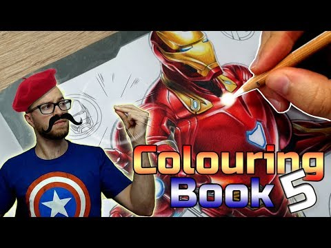 Professional Artist Colours A Childrens Colouring Book Iron Man 5 Youtube Childrens Colouring Book Coloring Books Books