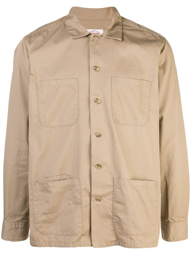 GRMO Men Buttons Pockets Long Sleeve Cotton Fashion Dress Shirts