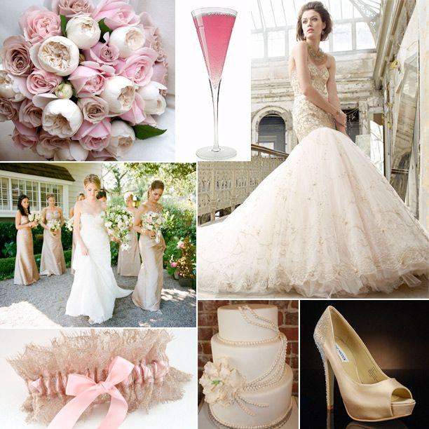 Blush Pink And Champagne Color Scheme