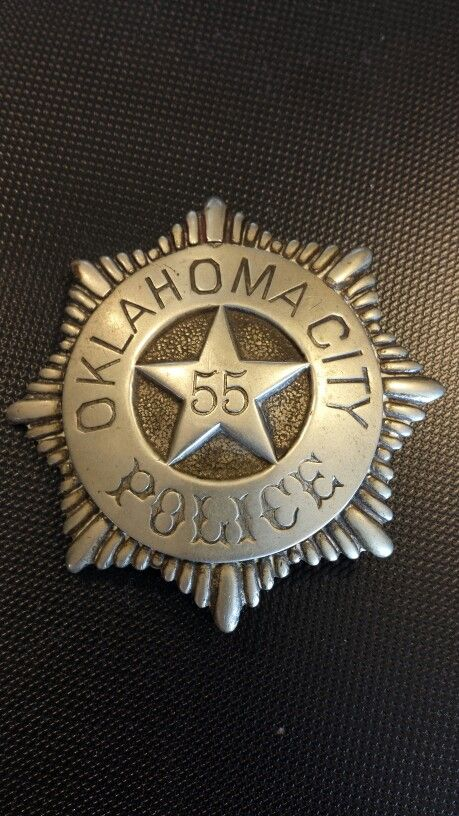 Early 1900 S Oklahoma City Police Badge Police Badge Police Patches Badge