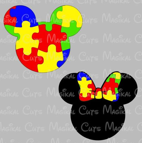 Autism Awareness Mouse Ears SVG, Studio, EPS, and JPEG Digital Downloa – Magikal Cuts