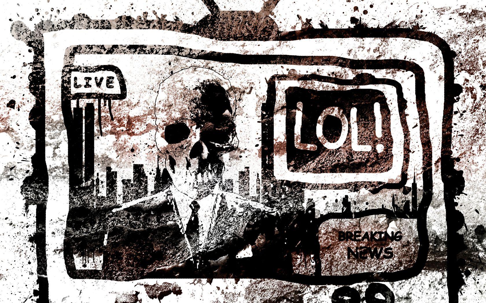 Dunkel Skelett  Wallpaper