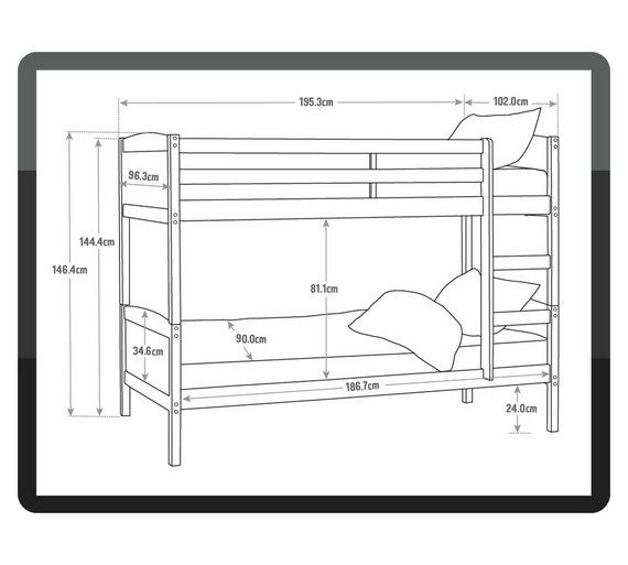 Buy Home Detachable Single Bunk Bed Frame White At Argos
