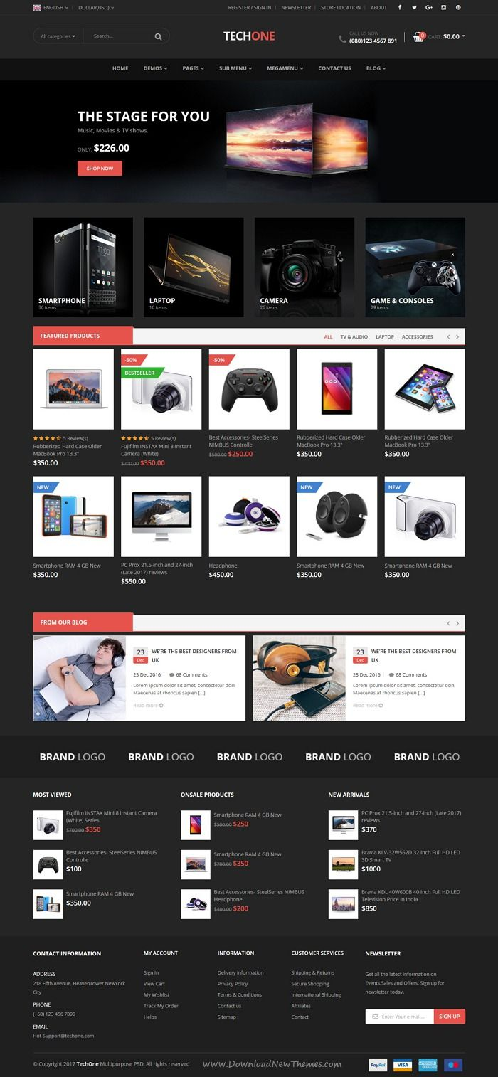 TechOne is clean and modern design 7in1 responsive #HTML5 template ...