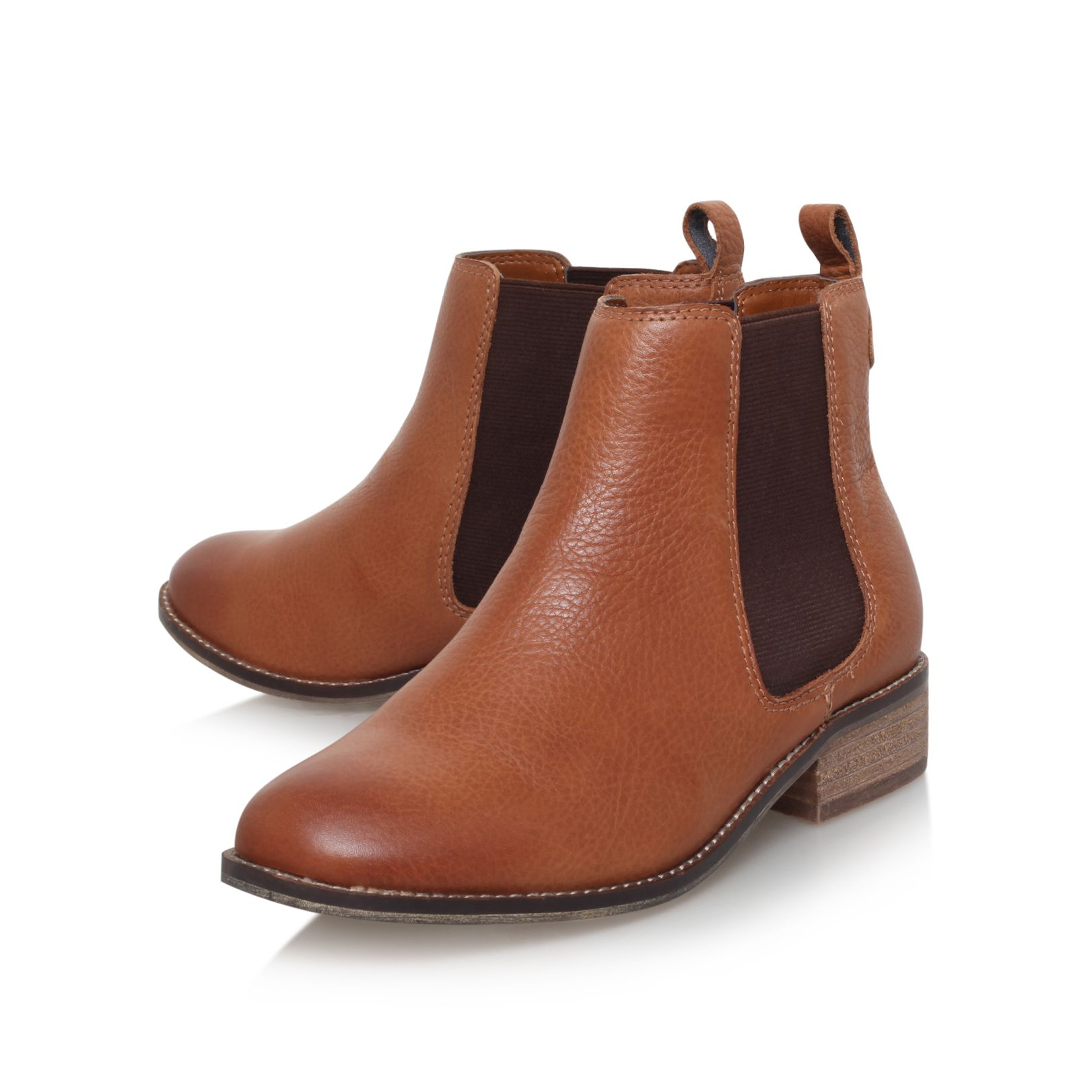 STORM Carvela Storm Tan Leather Flat Ankle Boots by CARVELA KURT GEIGER
