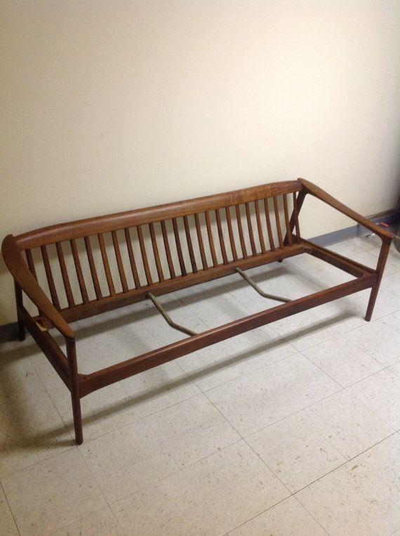 Vintage Danish Modern Dux Sweden Teak Three Seat Sofa Frame