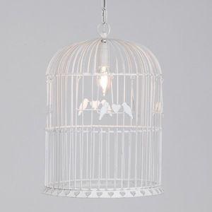 suspension cage a oiseau suspension luminaire amadeus d coration romantique jolie suspension. Black Bedroom Furniture Sets. Home Design Ideas