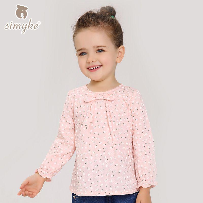 d6643f801 Los niños de La Muchacha Floral Blusa Con Manga Larga Camisas de ...