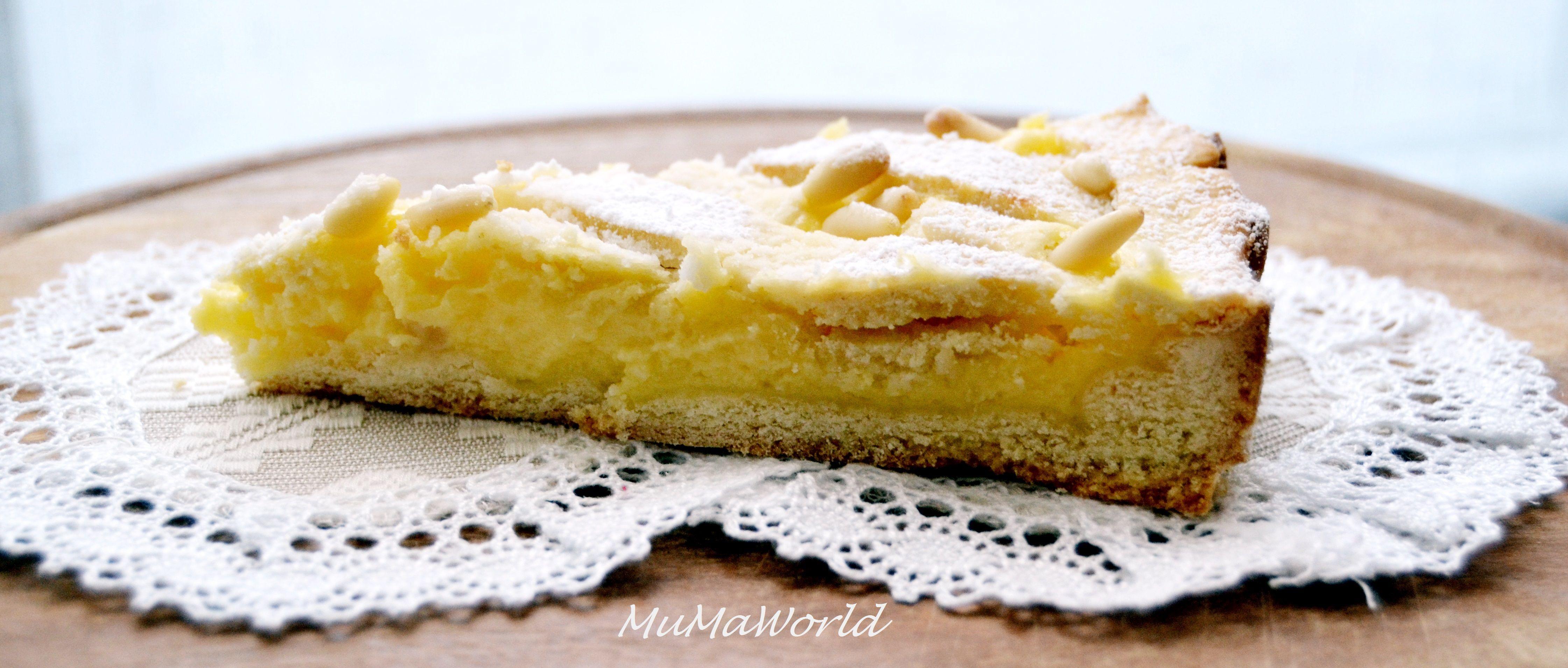 Torta della nonna. Homemade custard pie
