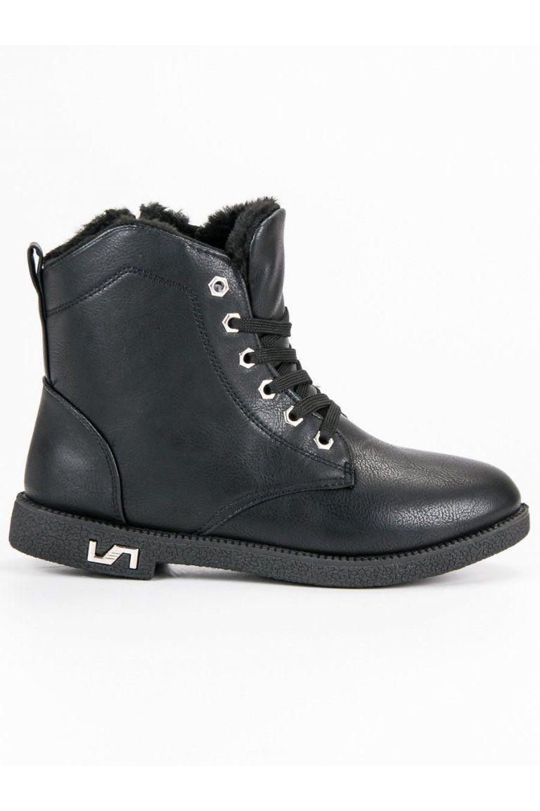 81c29e4224b24 Štýlové topánky čierne workery s kožušinou CnB | Čižmy Workery - NAJ ...